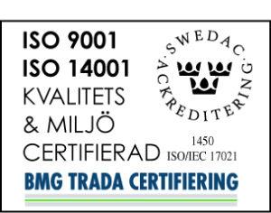 Certifikat ISO 9001 och ISO 14001